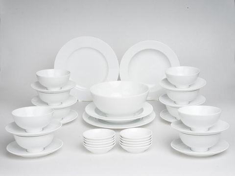 Bộ đồ ăn Minh Long Jasmine Trắng 35 sản phẩm