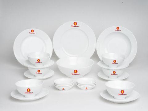Bộ Đồ Ăn Minh Long Jasmine 22 Sp Giá In Logo Vingroup