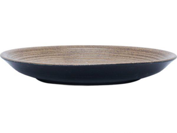 Đĩa sứ Tròn Bát Tràng Đường Kính 25.5cm - Cao 3.6cm
