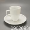 Ly Sứ Latte Dáng Đức Bát Tràng 0.32L + Dĩa